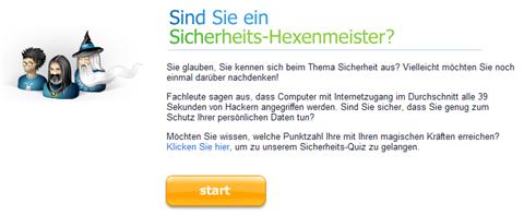 Agnitum Sicherheitstest Screenshot von der Startseite